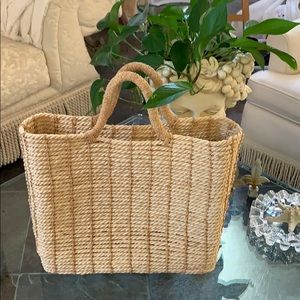 DKNY Large Straw Tote